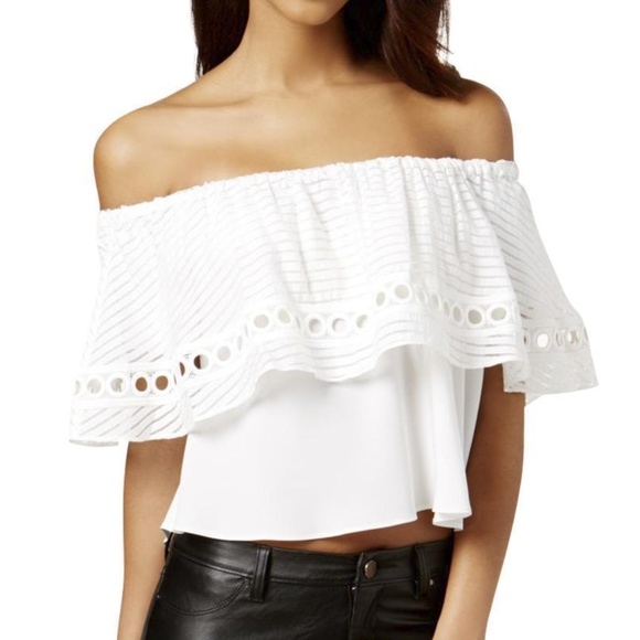 ab0d667f93bf RACHEL Rachel Roy Tops | Ruffled Off Shoulder Top White Size Xl Nwt ...